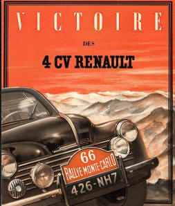 catalogue literature brochure renault 4 cv. Black Bedroom Furniture Sets. Home Design Ideas